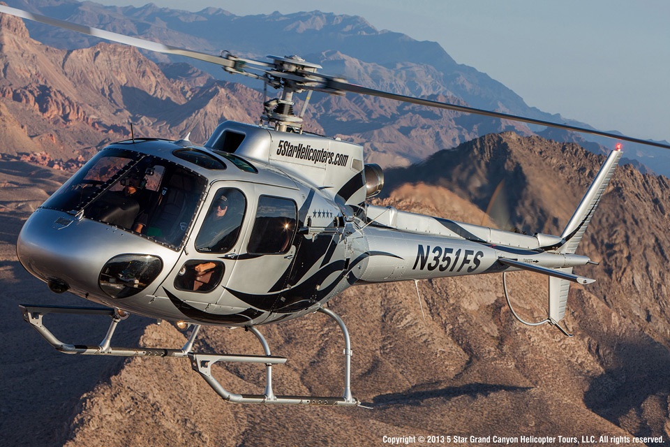 5 Star Grand Canyon Helicopter Tours aerial view