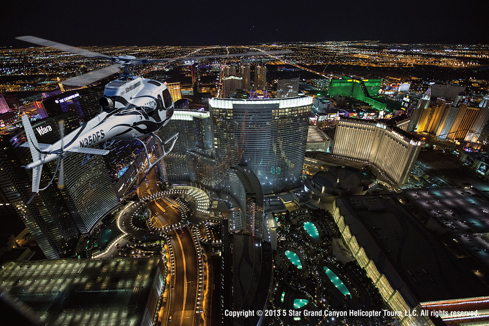 5 Star Grand Canyon Helicopter Tours las vegas at night