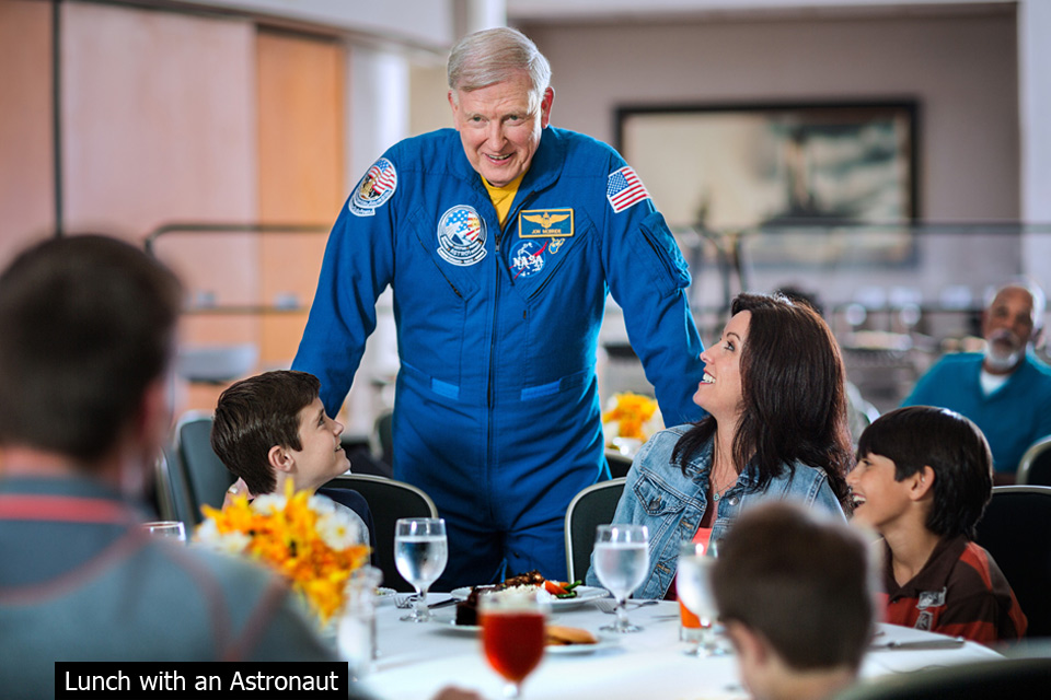 kennedy space center lunch with astronaut
